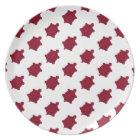 Dark Red Turtles Dinner Plate