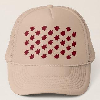 Dark Red Turtles Trucker Hat