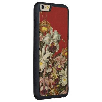 Dark Red Vintage Flower Garden Carved® Maple iPhone 6 Plus Bumper Case