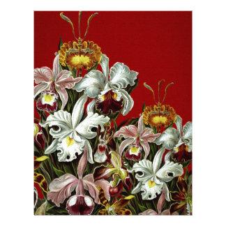 Dark Red Vintage Flower Garden Letterhead