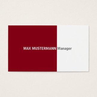 Dark red visiting card
