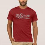 Dark Red Walkers Pathways T-Shirt