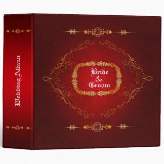 Dark Red  Wedding Album 3 Ring Binder
