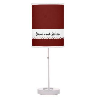 DARK RED Wedding Custom Names Home Decor D05 Desk Lamp