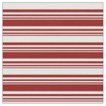 [ Thumbnail: Dark Red & White Colored Pattern of Stripes Fabric ]