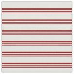 [ Thumbnail: Dark Red & White Lines Pattern Fabric ]