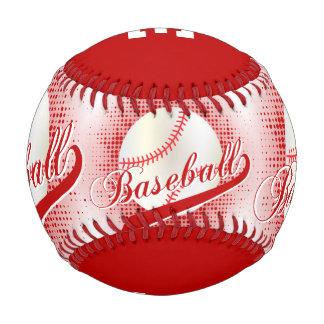 Dark Red  White Retro Baseball Sports Baseballs