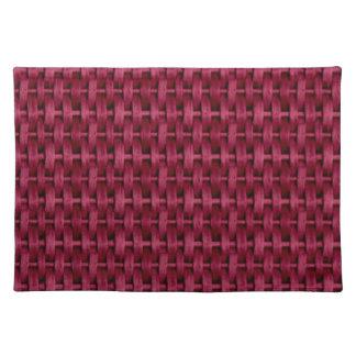 Dark red wicker graphic design cloth placemat