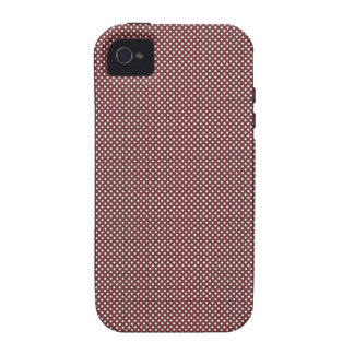 Dark Red With Simple White Dots iPhone 4/4S Covers