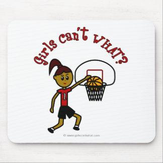 Dark Red Womens Basketball Mousepad