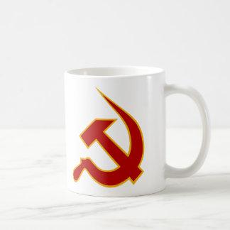 Dark Red & Yellow Neo-Hammer & Sickle Mug