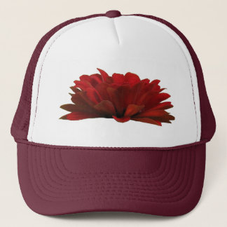 Dark Red Zinnia Trucker Hat