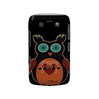 Dark Retro Cute Owl Blackberry Bold Case