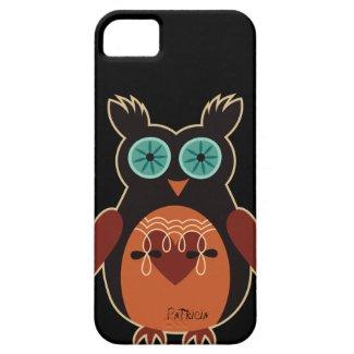 Dark Retro Cute Owl iPhone 5 Case