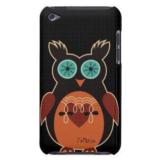 Dark Retro Cute Owl iPod Touch Case