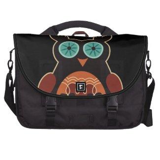 Dark Retro Cute Owl Laptop Bag