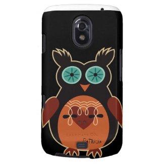 Dark Retro Cute Owl Samsung Galaxy Nexus Case Galaxy Nexus Cover