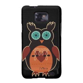 Dark Retro Cute Owl Samsung Galaxy S2 Case