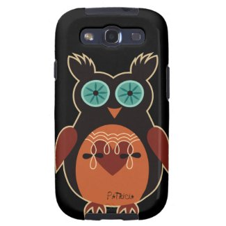 Dark Retro Cute Owl Samsung Galaxy S3 Case