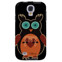 Dark Retro Cute Owl Samsung Galaxy S4 Case