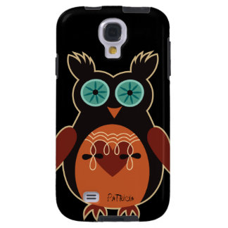 Dark Retro Cute Owl Samsung Galaxy S4 Case