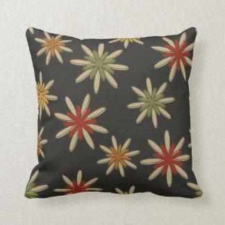Dark Retro Flower Pillow