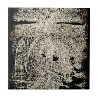 Dark Rimmed Oasis Ceramic Tile