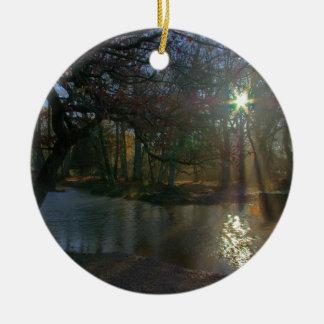 Dark River Ceramic Ornament