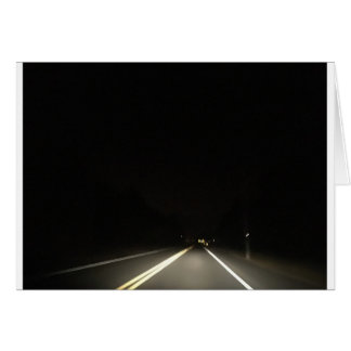 Dark roads and Night time adventures Card