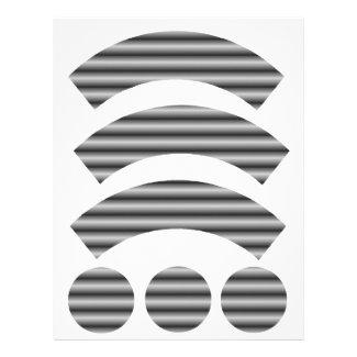 Dark Roller Door Cupcake Wrapper Letterhead Design