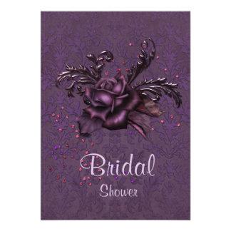 Dark Romance Bridal Shower Invitation Invitation