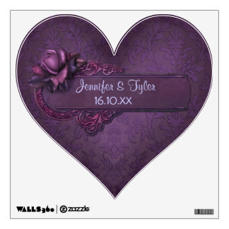 Dark Romance Damask - Customize Room Stickers
