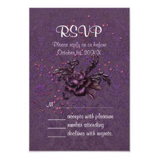 Dark Romance RSVP Card