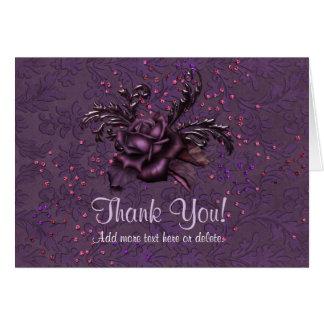 Dark Romance Wedding - Thank You Card