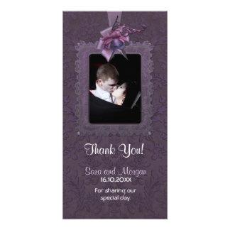 Dark Romance Wedding Thank You Photo Card