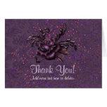 Dark Romance Wedding - Thank You Stationery Note Card