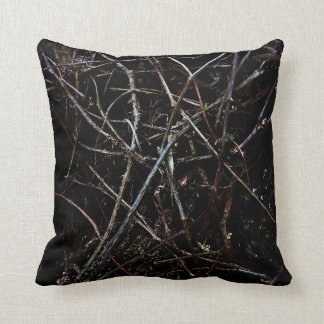 Dark Roots Texture Throw Pillow