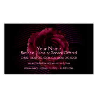 Dark Rose Double-Sided Standard Business Cards (Pack Of 100)