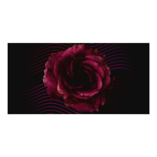 Dark Rose Card