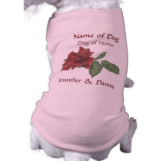 Dark Rose Dog of Honor Pet Shirt