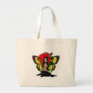 Dark Rose Fairy Tote Bag