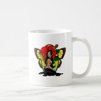 Dark Rose Fairy Coffee Mugs