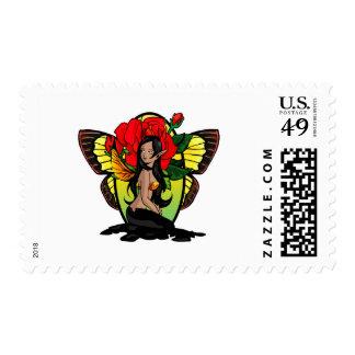 Dark Rose Fairy Stamps