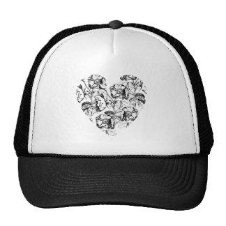 Dark Rose Heart Trucker Hat