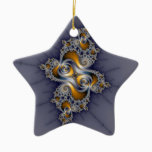 Dark Rose - Mandelbrot Fractal Ceramic Ornament