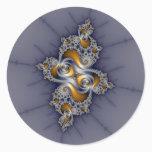 Dark Rose - Mandelbrot Fractal Classic Round Sticker