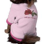 Dark Rose Marry Me Dog Shirt
