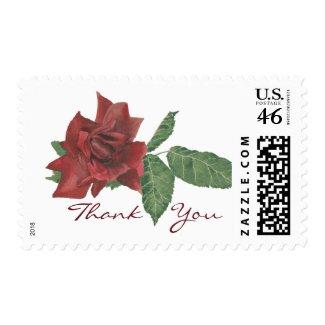 Dark Rose Thank You Postage stamp
