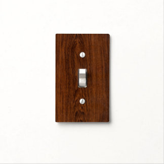 Dark Rose Wood  Grain Texture Light Switch Cover