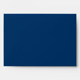 Dark Royal Blue A7 Scrollwork Monogram Envelopes
